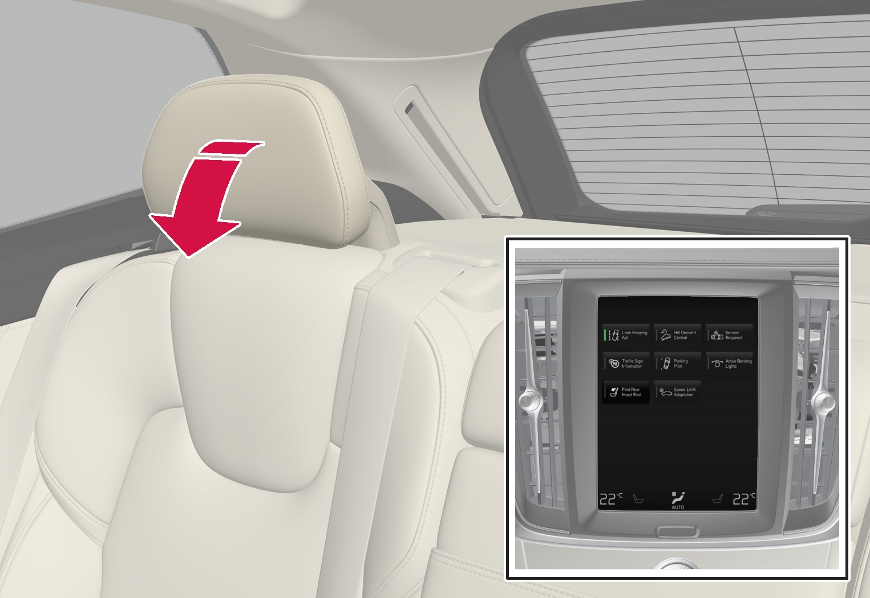 P5-XC60/XC60H-1717-Owner manual, folding headrest rear seat