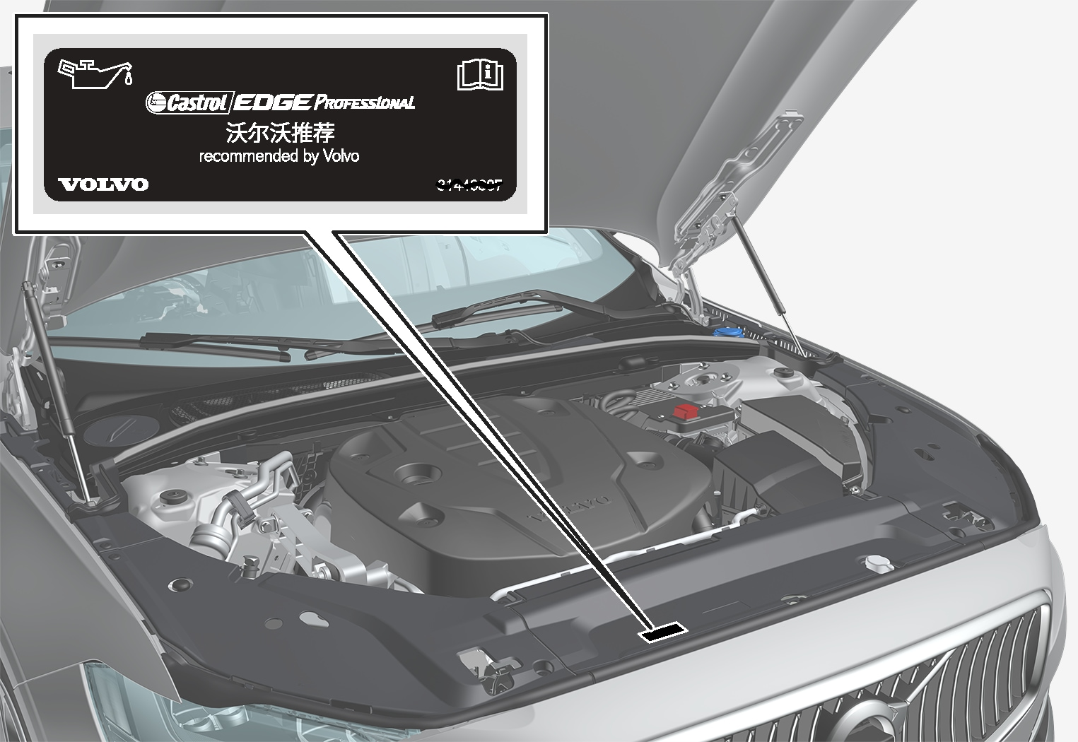 P5-1617-S90/V90 Oil decal China