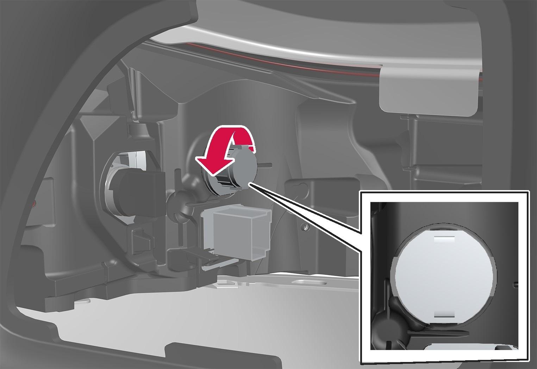 P6-1746-XC40-Removing turn signal light bulb