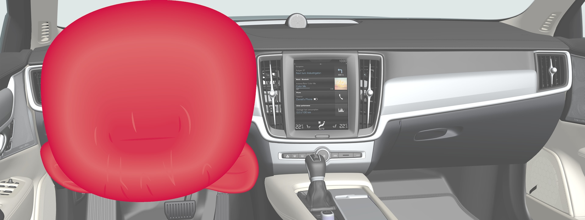 P5-1746-S90/V90–Safety–Driver airbags