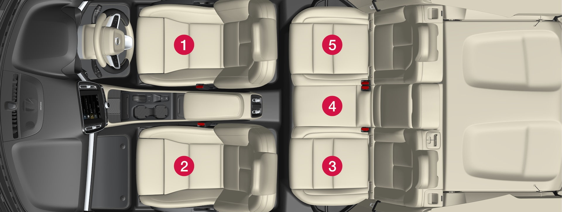 P6-XC40-1746-Safety- Child restraint placement overview right hand drive