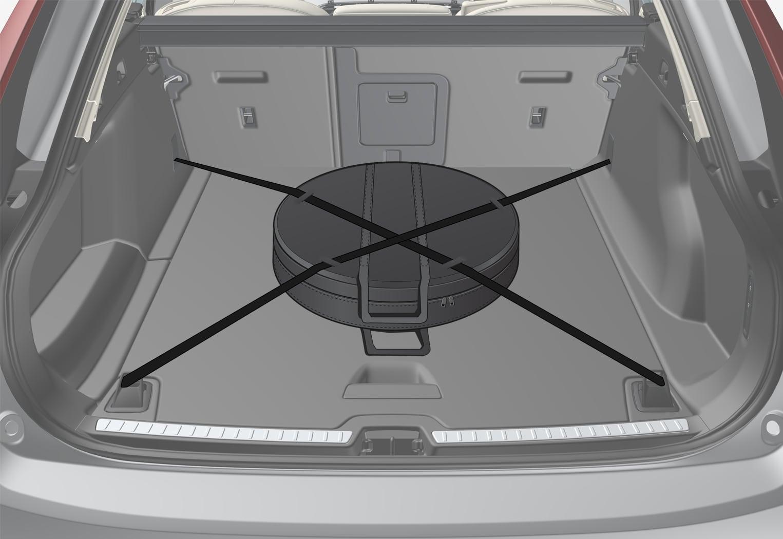 P5-1646-V90 hybrid-Spare wheel in cargo area