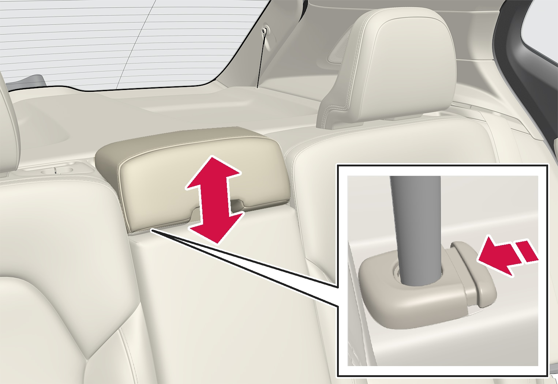 P6-1817-XC40-Rear seat-Adjust headrest center