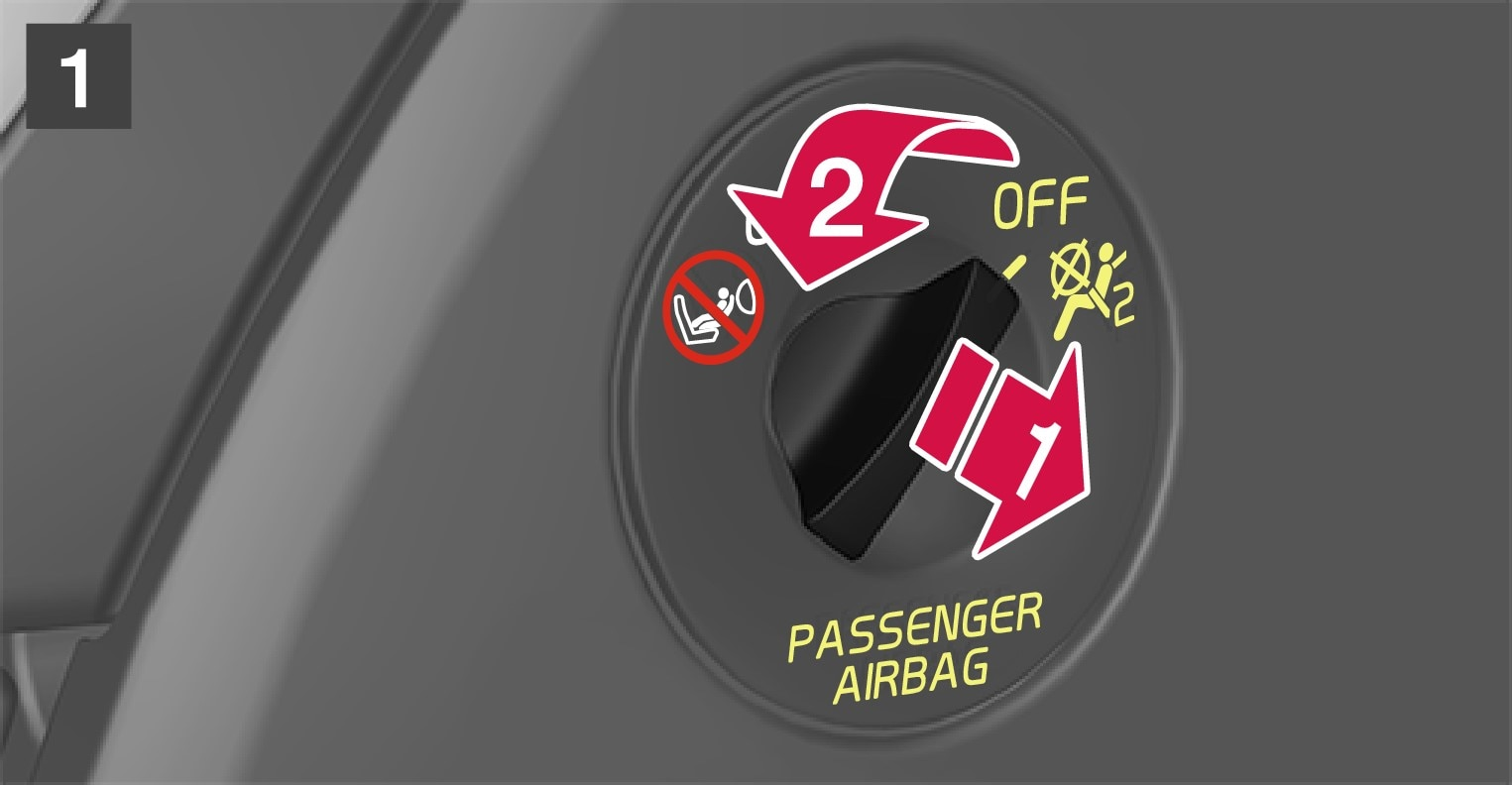 P5-1507–Safety–Passenger airbag cut off switch to on