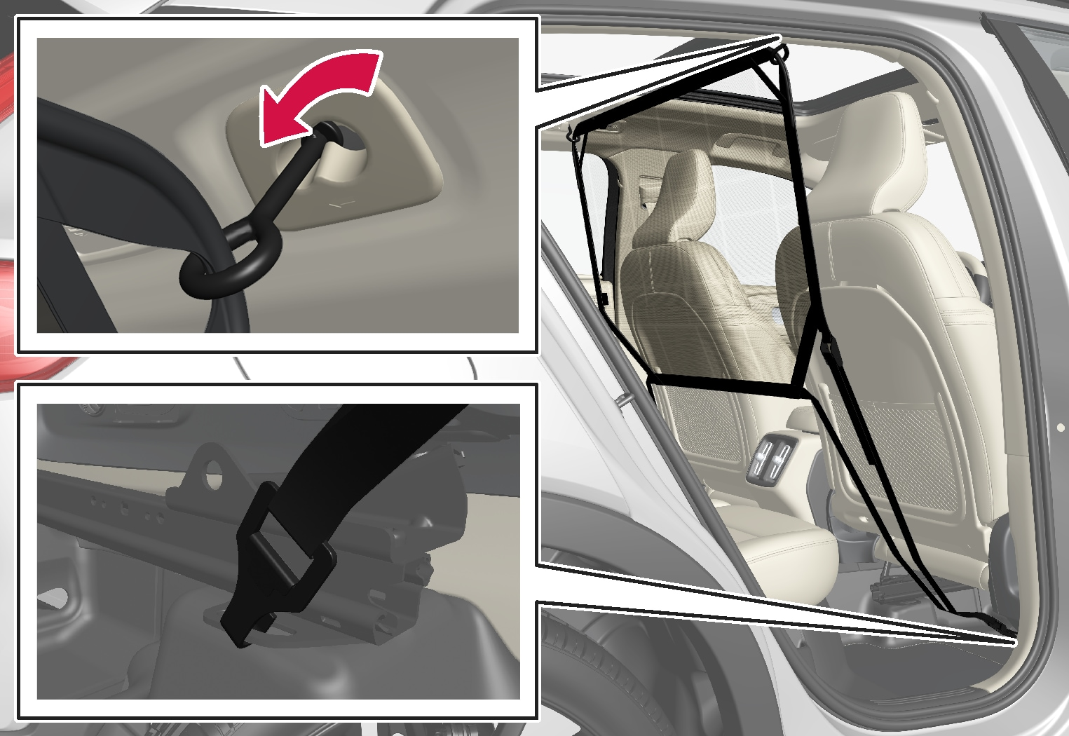 P6-1746-XC40- Safety net front position installation
