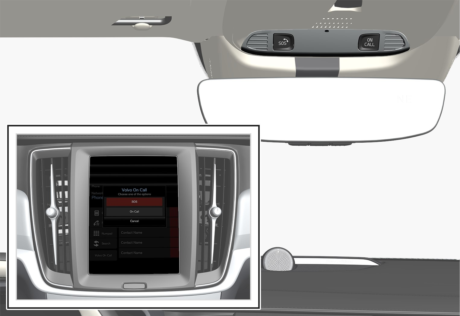 P5-1617-S90 V90 Volvo On call button