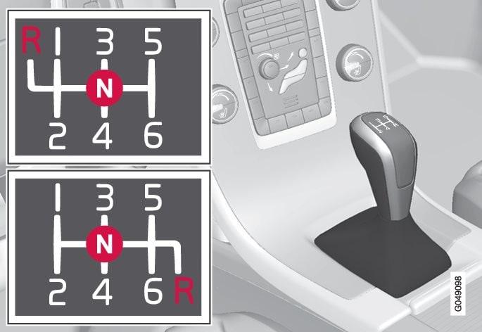 Gearpositioner 6-trins gearkasse.