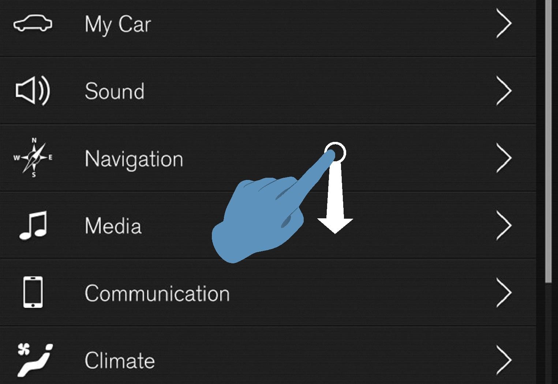 P5-1546 - Scroll indicator in centerdisplay