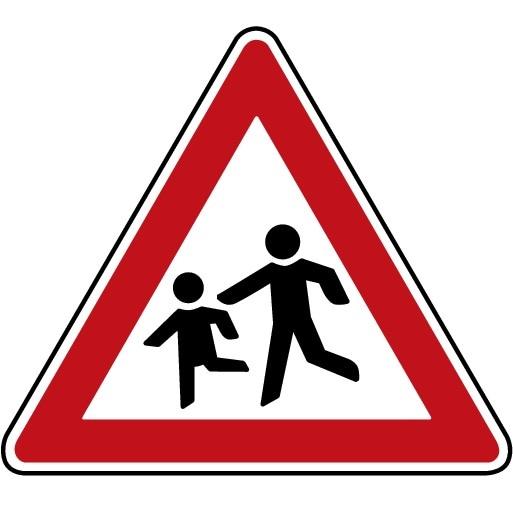 P5-1617-RSI-Trafikskylt Skola/Lekande barn
