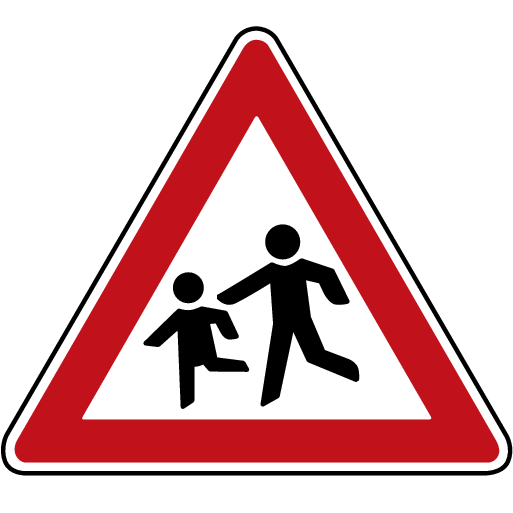P5-1617 - Road Sign Information, Sign for School and Children at play