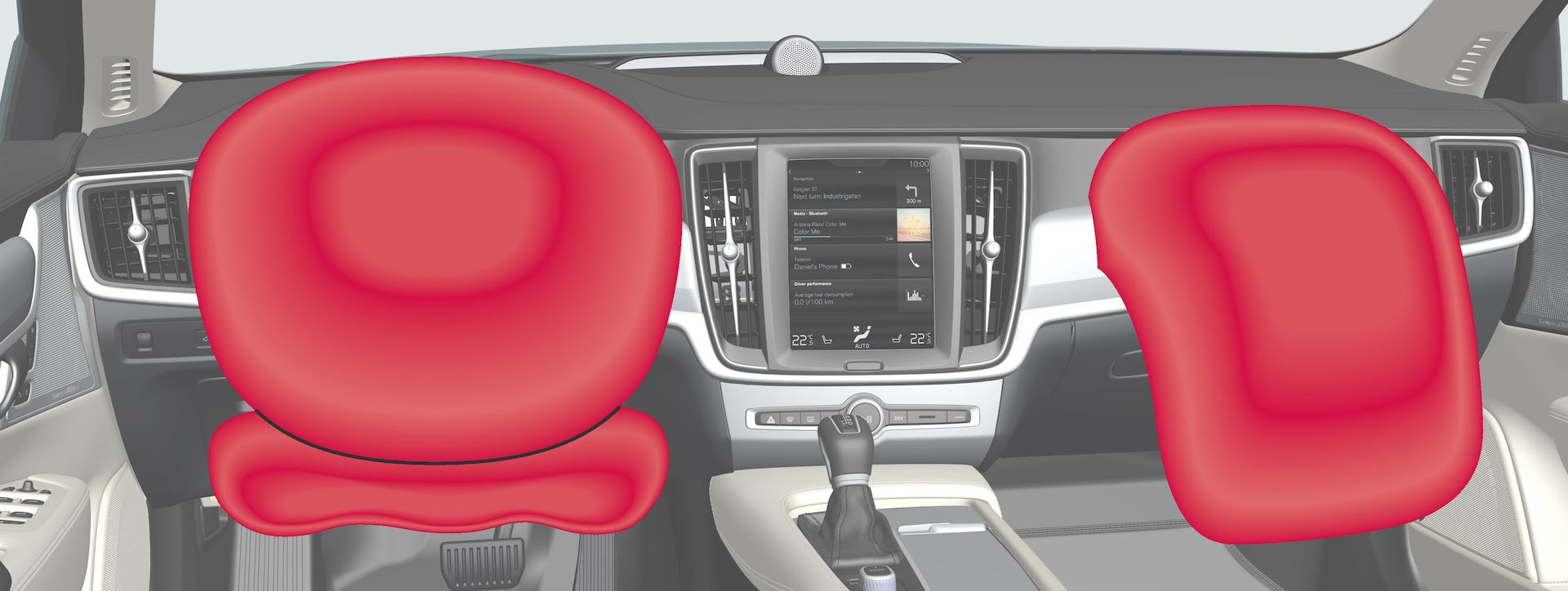 P5-1617-S90/V90–Safety–Driver and passenger airbags