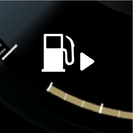 P5-1507 Fuel filler flap side indicator