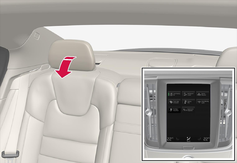 P5-1817-S60-Back seat-Automatic folding headrest