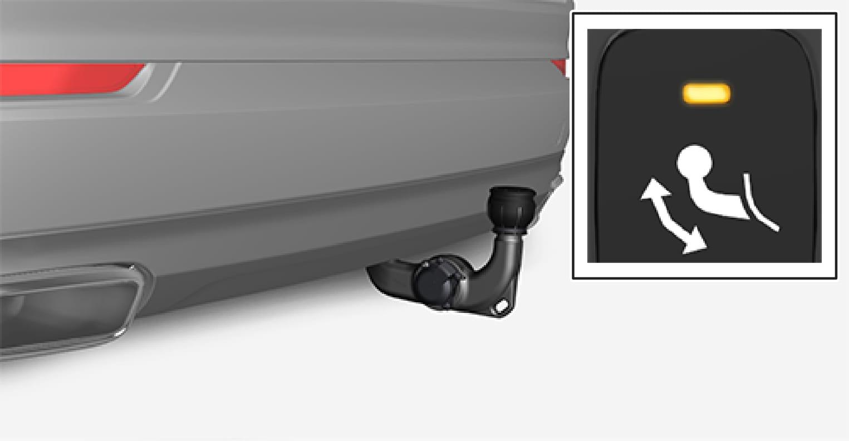 P5-1507 Swivable tow bar fully folded