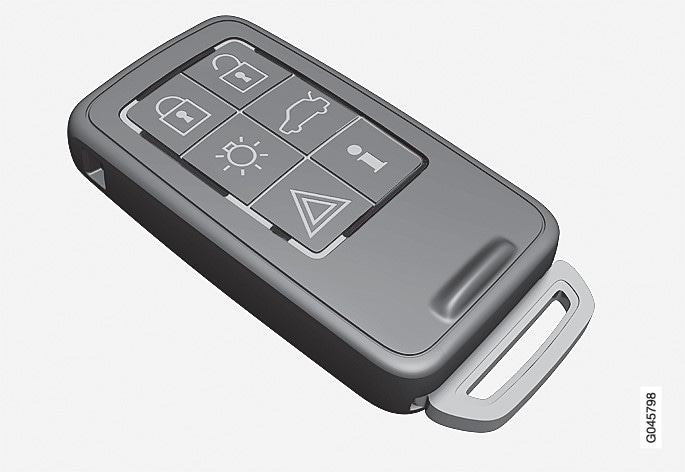 Remote control key with PCC (Personal Car Communicator).