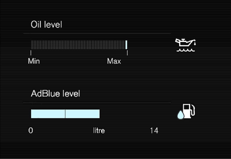 P6-1846-XC40-AdBlue level graph in centerdisplay