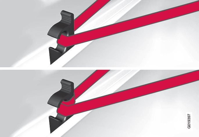 Securing loads with movable load retaining hooks.