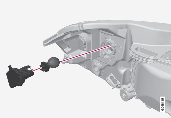 P3-1320-XC60 Direction indicator bulb replacement