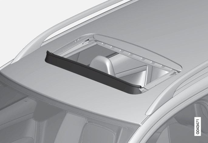 P3-V70/XC70/V60H Wind deflector moonroof
