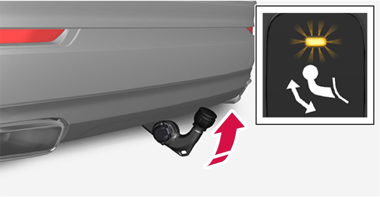 P5-1507 Swivable tow bar folding