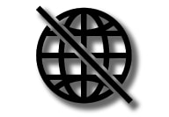 P5–1717–Symbol in status bar–Internet off