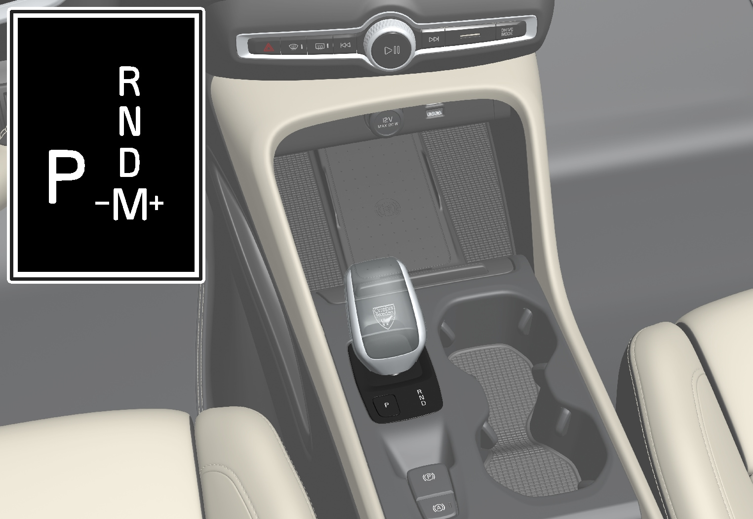 P5-1917-Automatic crystal gear shifter
