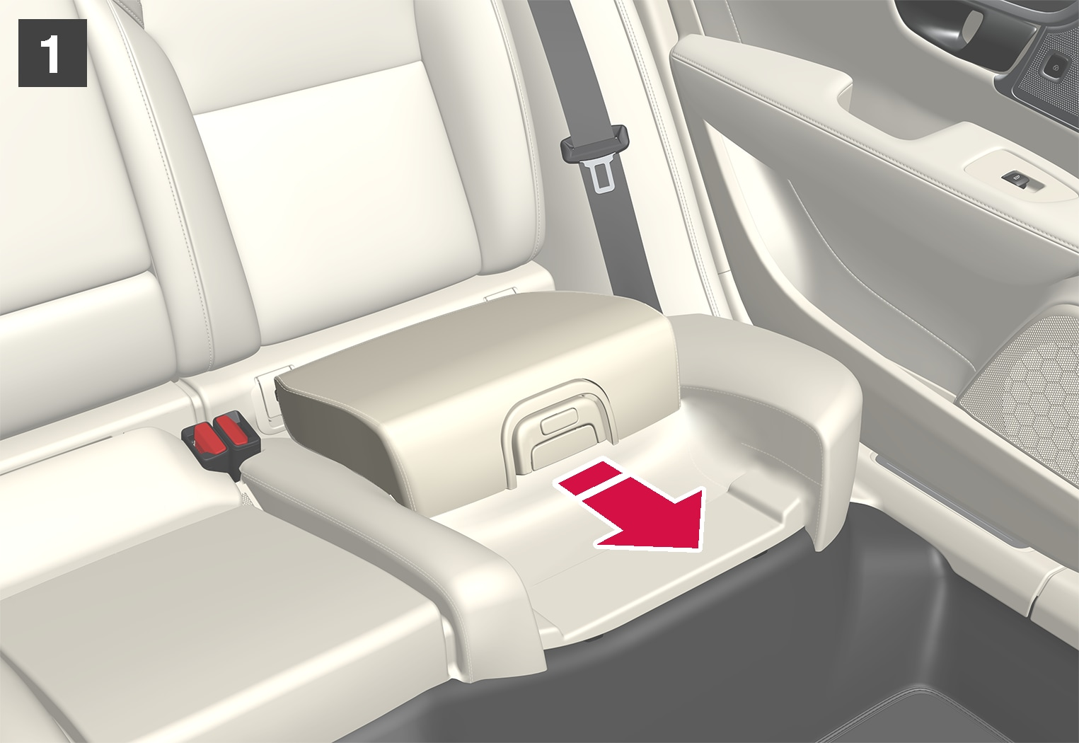 P5-1617-S90/V90–Safety–Integrated booster cushion fold 1
