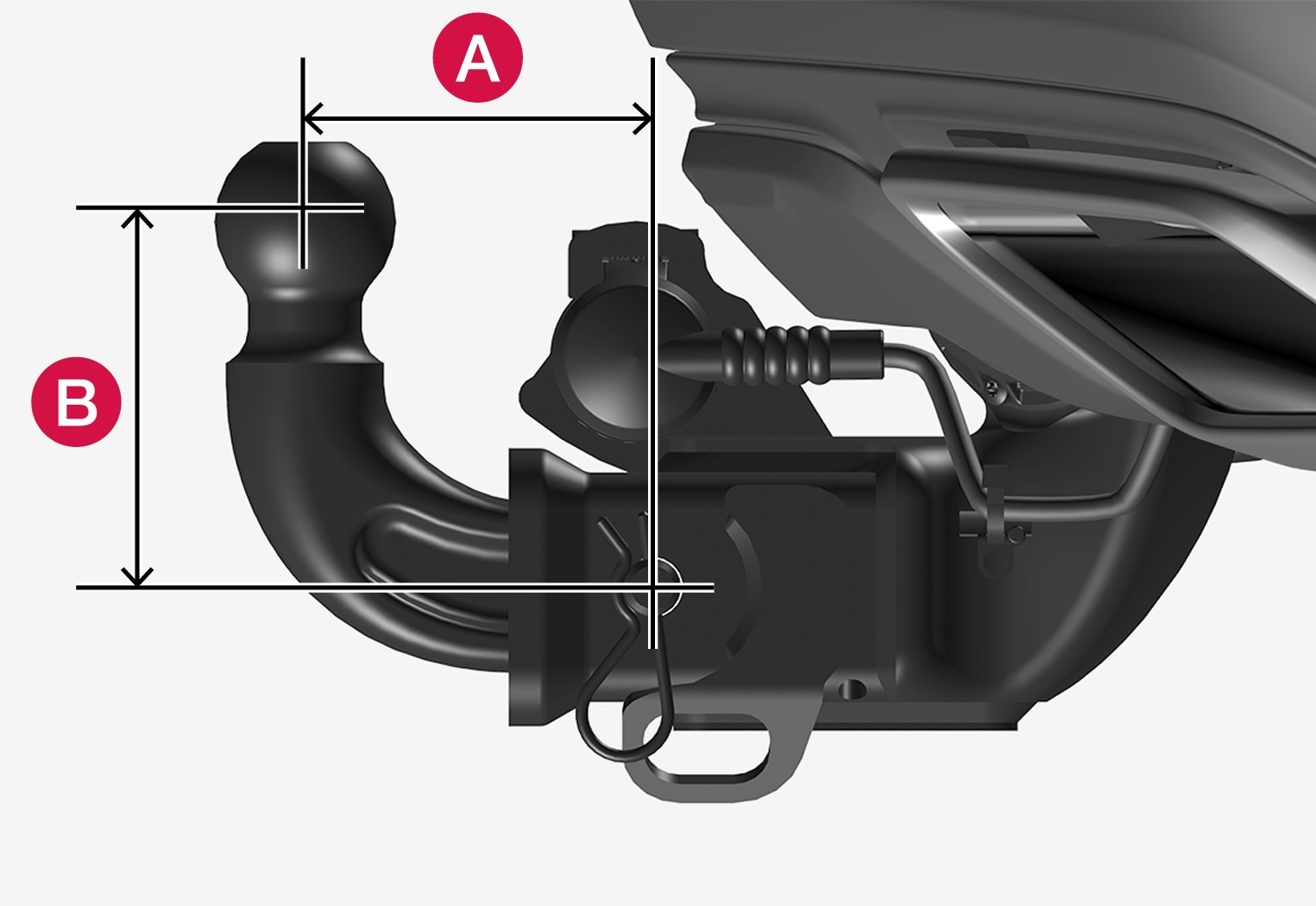 P5-1917-USA trailer hitch, overview ball mount