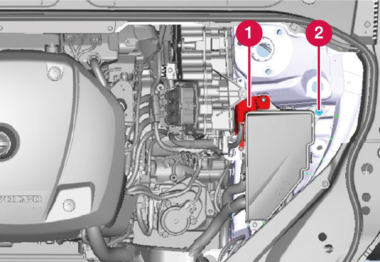 P5-1519-XC90 Hybrid Starter battery charging points