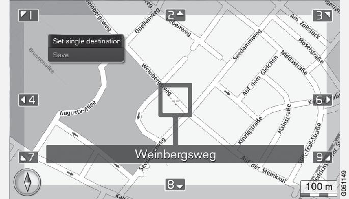 P3/P4-1420-IMAP-menu-Set destination-Around point on map