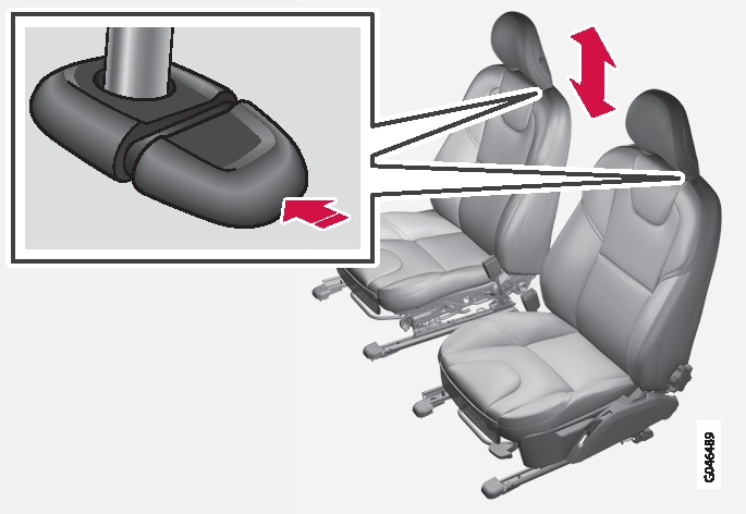 P4-1220-Y55X To adjust head restraint in front seat