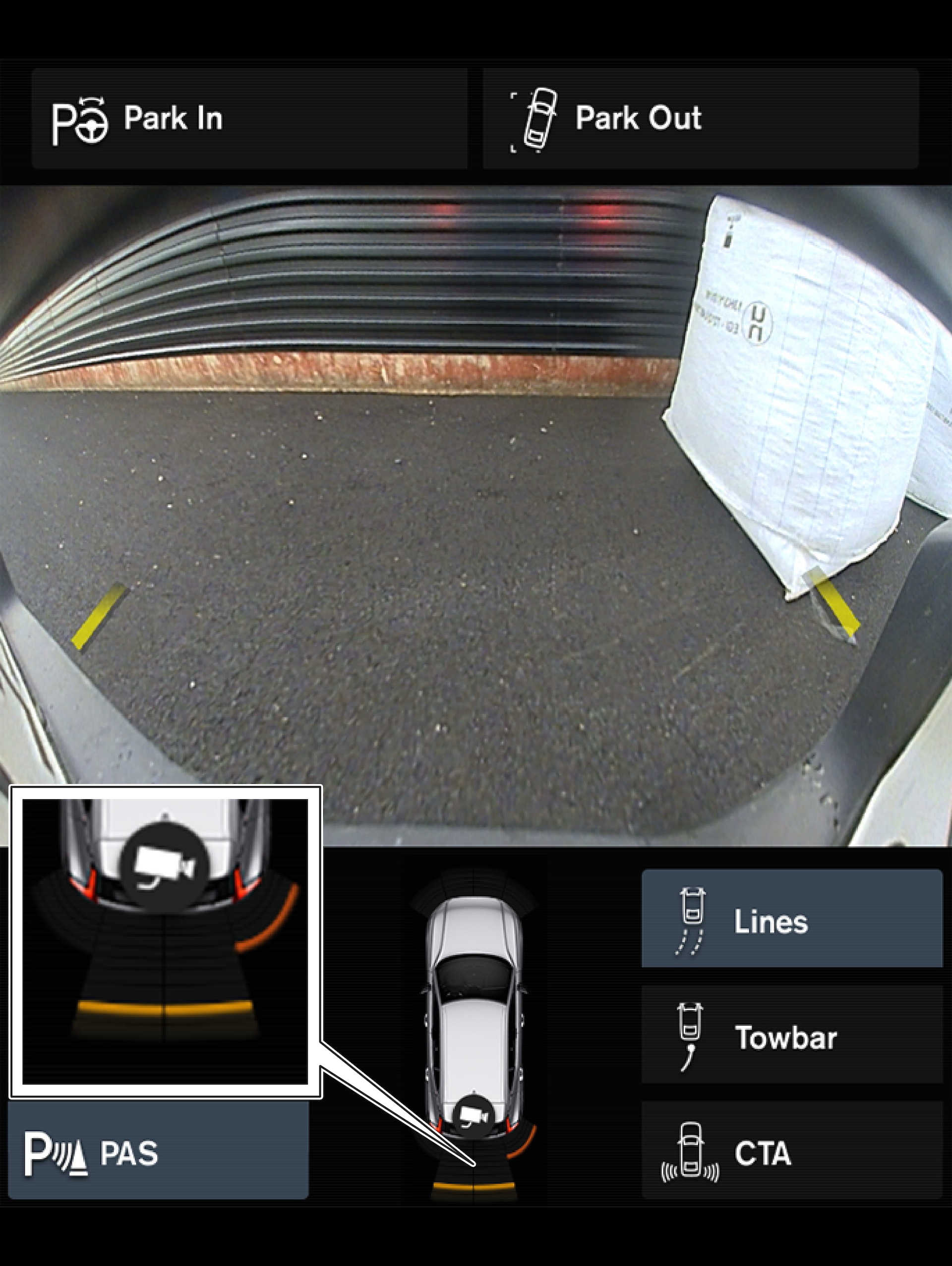P5+6-1746 - Park Assist Camera, sensor fields backwards