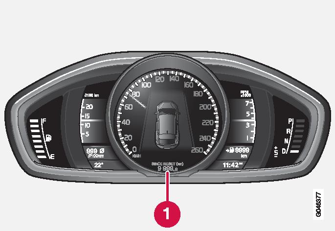 P4-1220-Y55X Trip meter