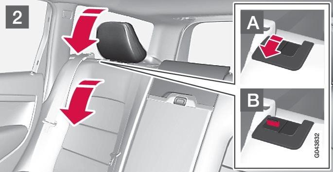 P3-1320-V70/XC70 Folding outer head restraint