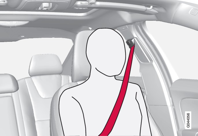 P3-1020-S60 V60 Correct seat belt position in front seat