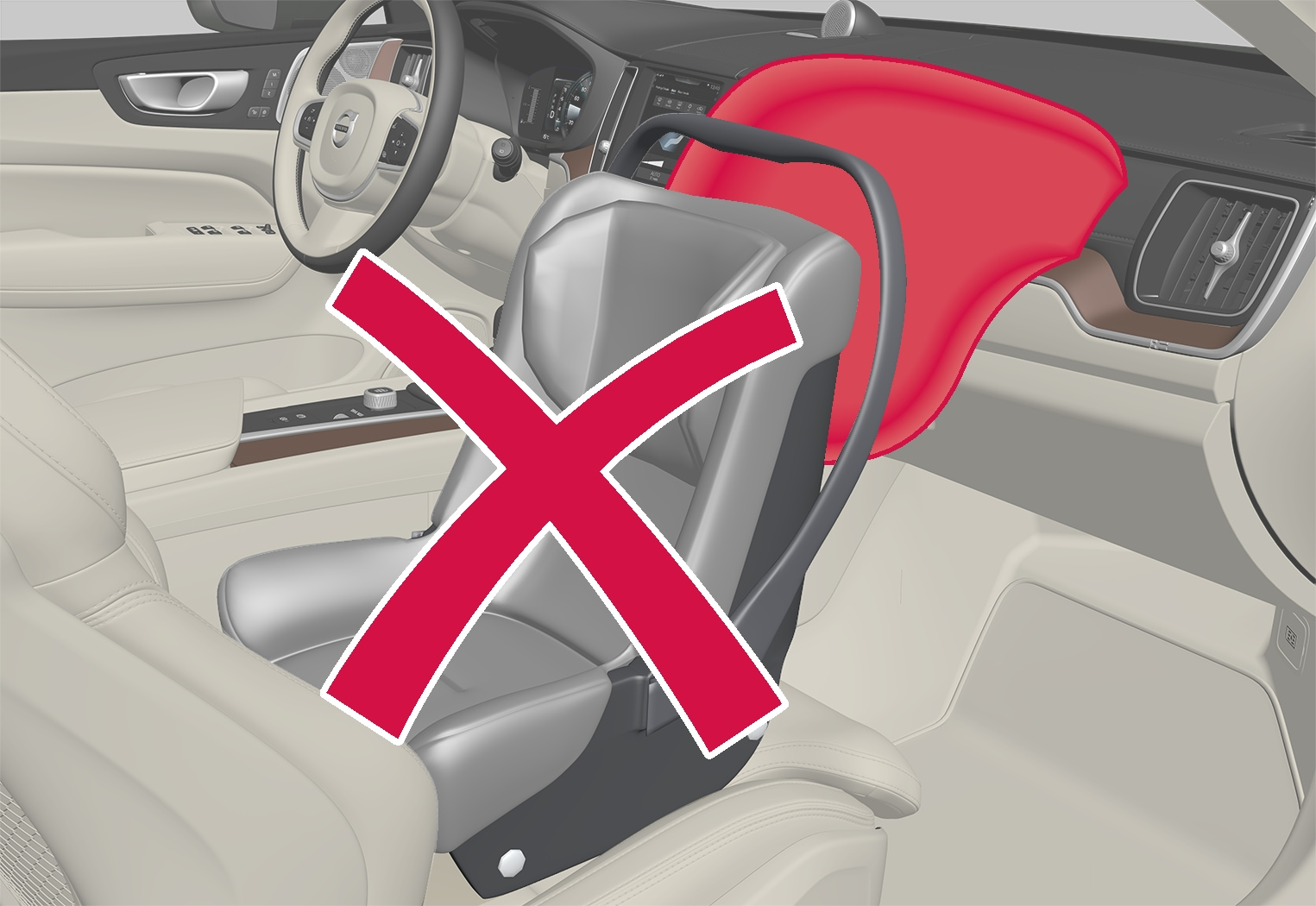 P5-1717-XC60–Safety–Child seat and airbag
