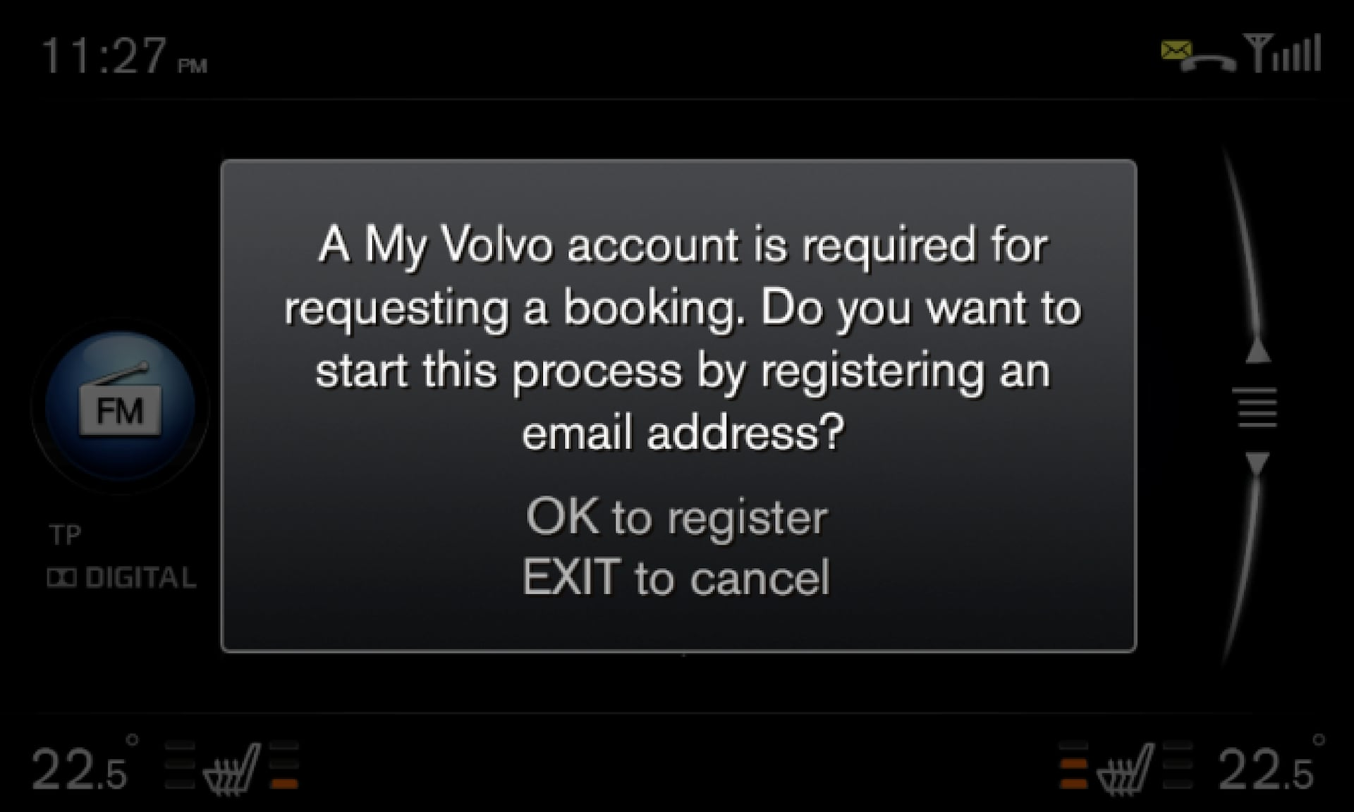 P3/P4 - Support site- Error message - Volvo account required