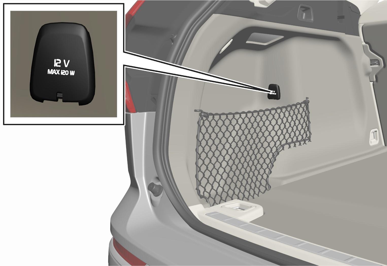 P5-1717-XC60-12 V outlet storage