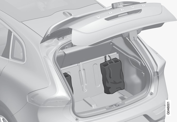 P4-1220- Y55X- Foldable grocery bag holder, overview