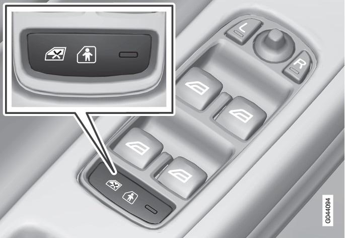 แผงควบคุมที่ประตูด้านคนขับ
