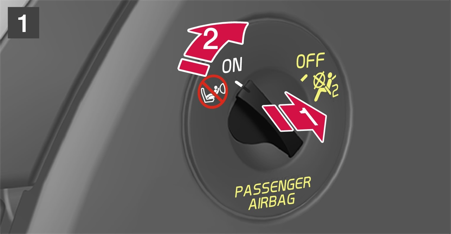 P5-1507–Safety–Passenger airbag cut off switch to off