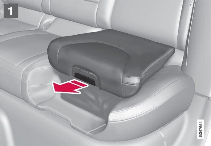 P3-1246-XC60 V60 V60H Integrated child seat, closing, ill 1