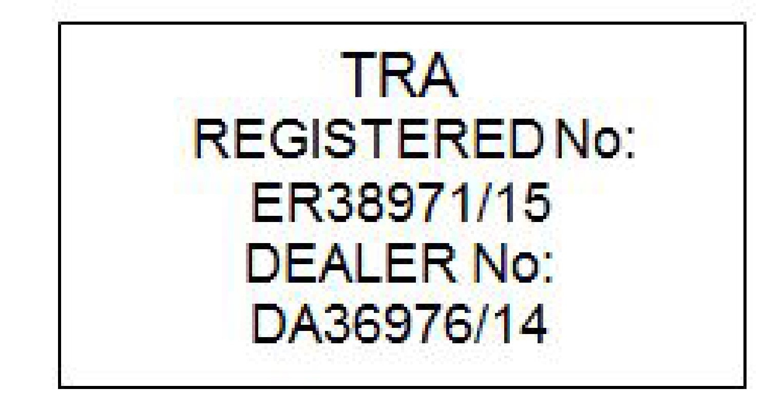 P5 - 15w46 - Key tag approval sign - UAE