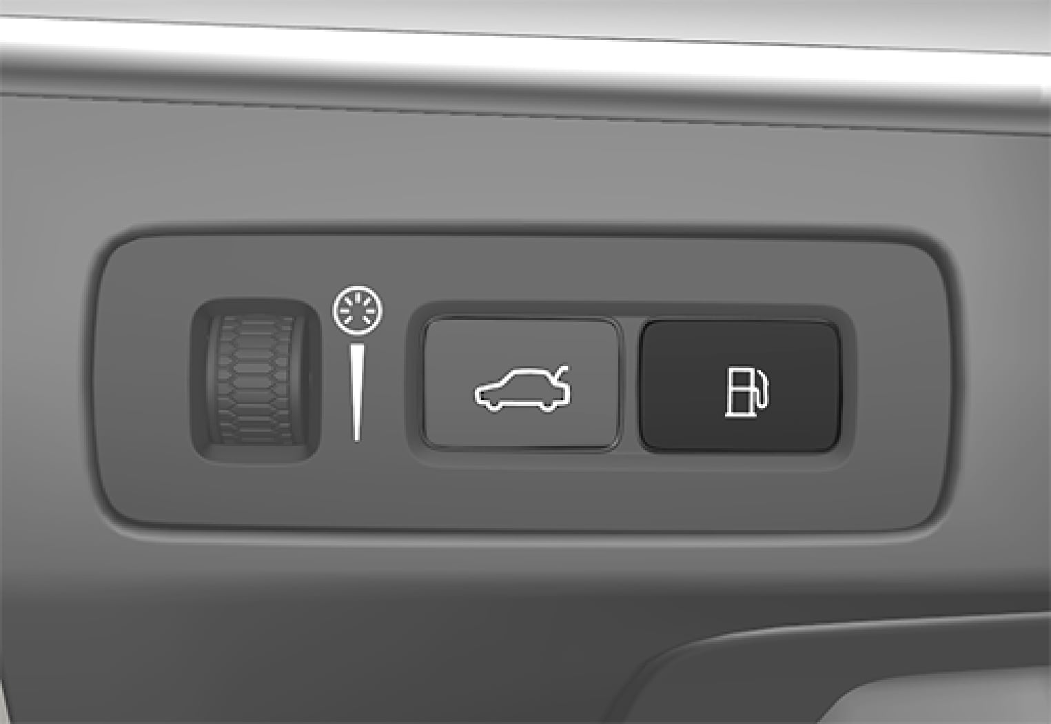 P5-1519-XC90 HYBRID Fuel filler flap button