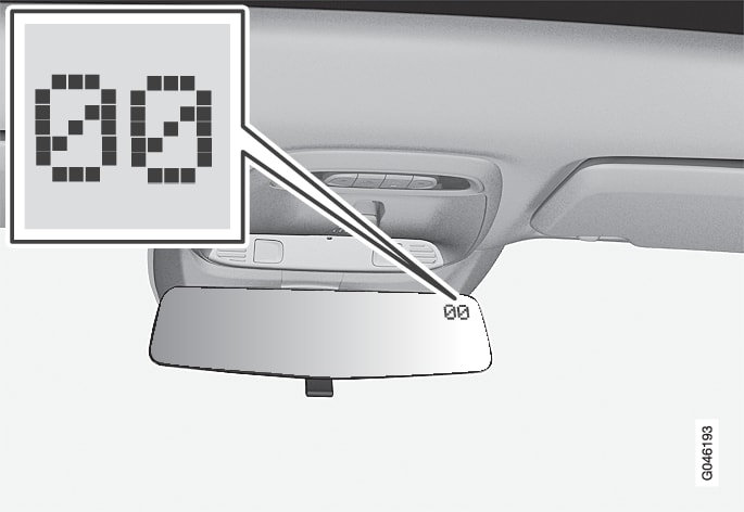 P4-1220-Y55X Rearview mirror with integrated compass display