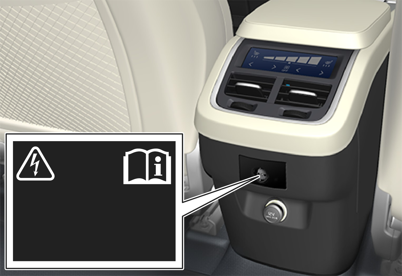 P5-1507–Interior–230 V outlet tunnel console rear