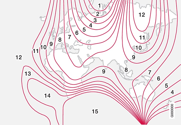 P3/P4-1517-Compass magnetic zones