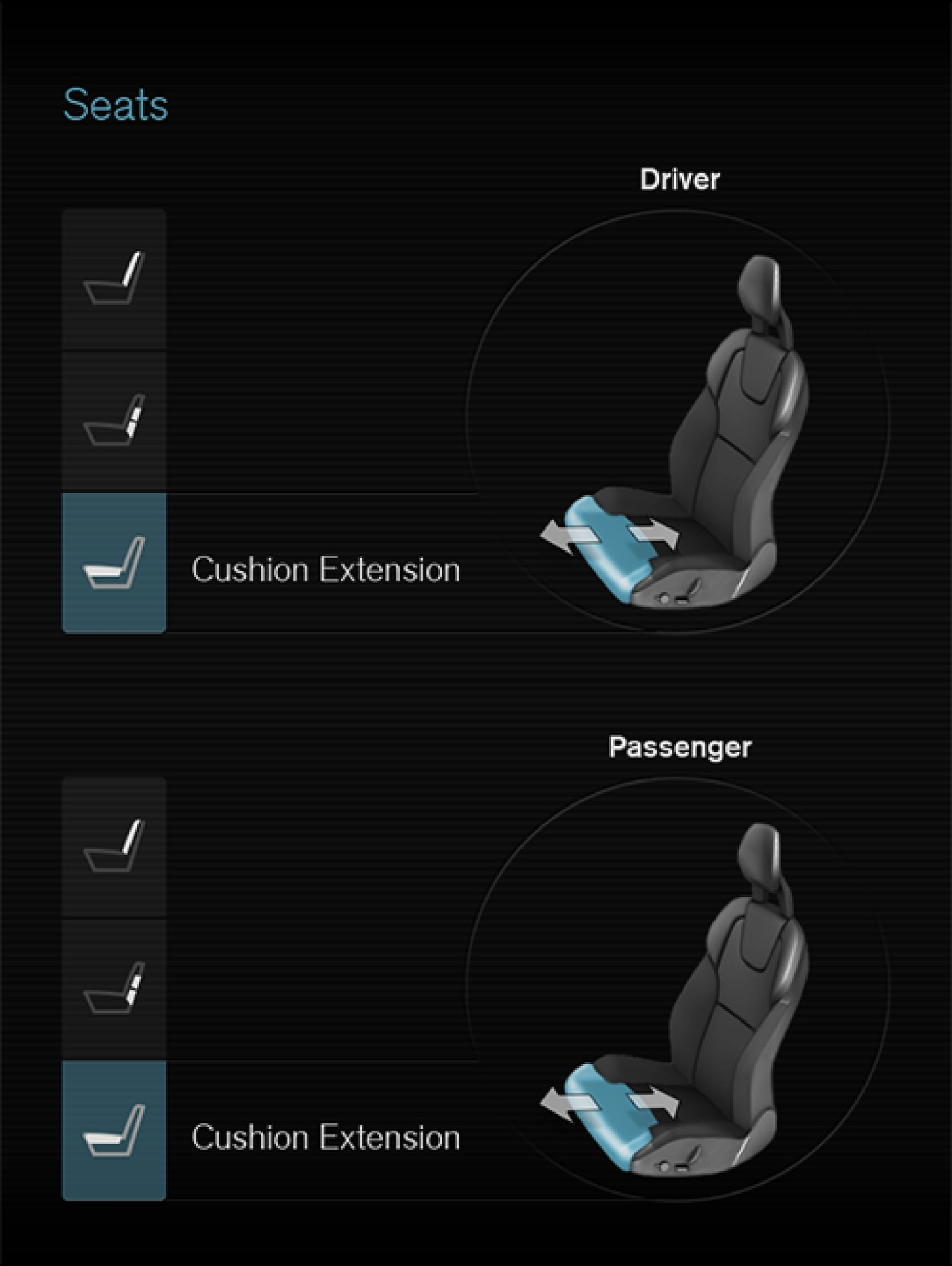 P5-1507-Seat function-Cushion extention