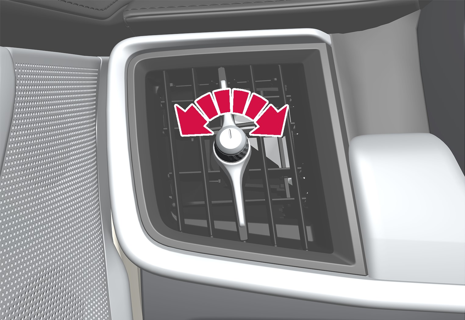 P5-1617-S90/V90–Climate–Air vent open and close front