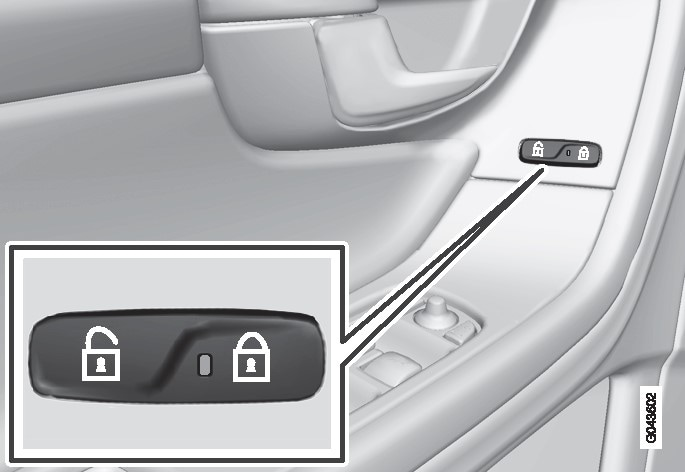 Central locking button